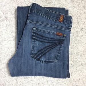 7 For All Mankind Dojo Jeans Size 31 , 31' inseam